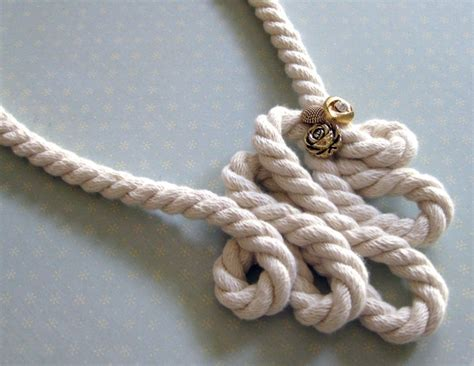 rope for jewelry rope necklace 20 interesting diys guide patterns
