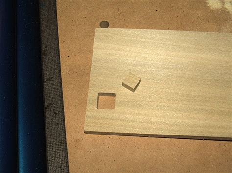 horizontal mortiser cutting square holes  wood