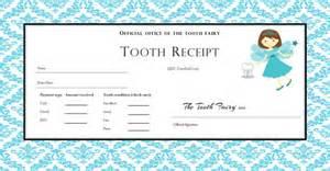 custom tooth fairy receipt boy and 4 designs included