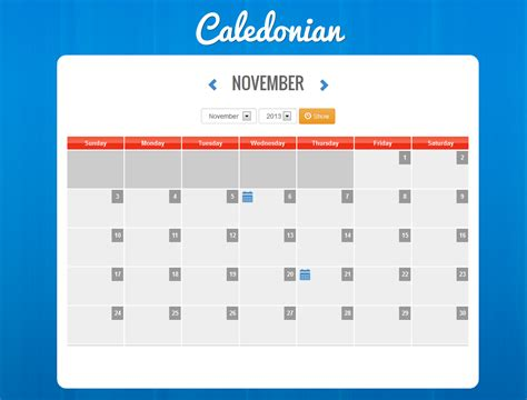 Event Calendars Caledonian Php Event Calendar By Thunderfury Codecanyon