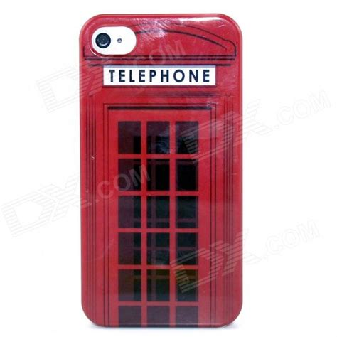 Hardcase Cover Xiaomi Mia1 Line Boxes telephone box pattern plastic for iphone 4 4s black free shipping