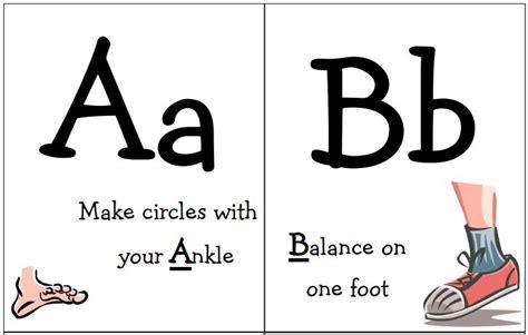 printable exercise flash cards free alphabet flash cards new calendar template site