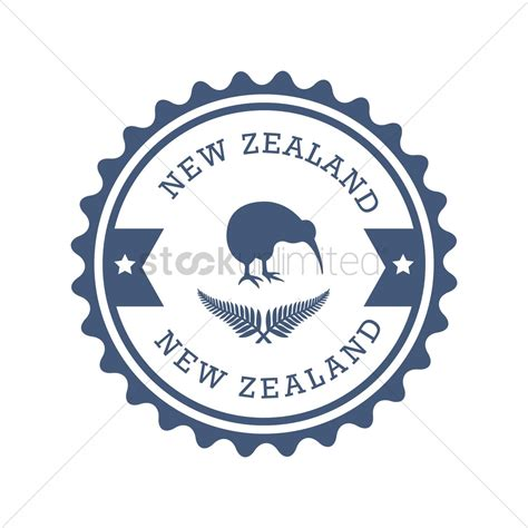 graphics design nz new zealand label design vector image 2017409