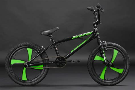 neon cycling freestyle bmx quot cobalt quot neon green mag wheels 360 176 rotor 20
