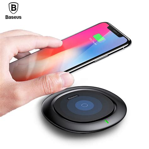 Samsung X8 Plus qi wireless charger baseus fast wireless charging pad for iphone x 8 plus samsung galaxy note 8