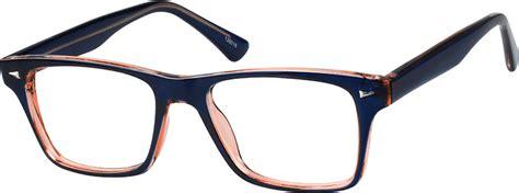 Bridge Square Glasses blue square eyeglasses 1260 zenni optical eyeglasses