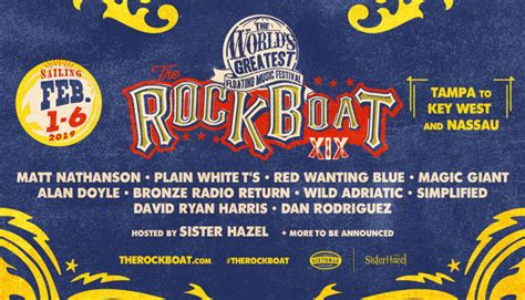 rock the boat 2019 country music comedy and rock festival cruises for the