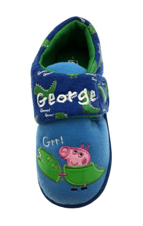 boys size 4 slippers boys peppa pig george novelty slippers fleece