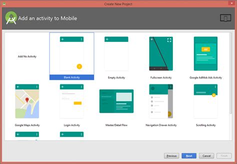 android activity layout design create new project in android studio