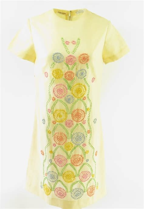 70s floral vintage 70s floral dress womens s deadstock embroidered