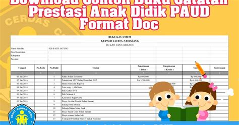 format buku piket guru paud download contoh buku keuangan operasional sekolah paud tk