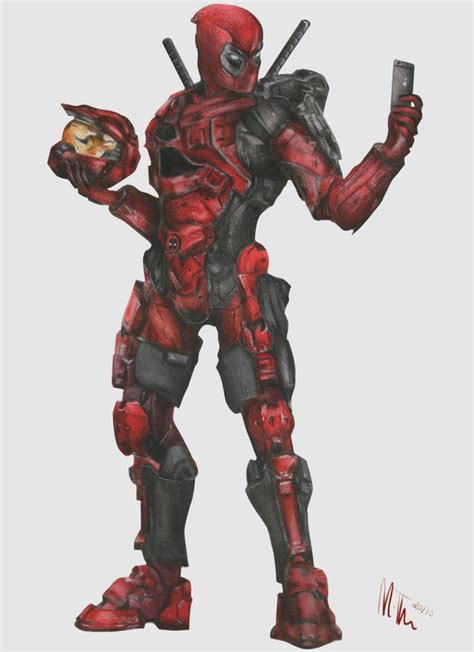 halo deadpool mash up by mollythomas on deviantart