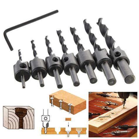 Mata Bor Gergaji Cutting Saw Drill 6mm Hss Titanium Coated 7pcs 3mm 10mm hss 5 flute countersink drill bit set
