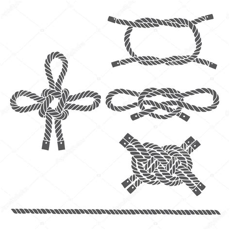 boat licence knots set of marine rope knots stock vector 169 maritime m