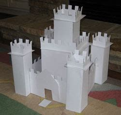 How To Make A Castle Out Of Paper - castle template free new calendar template site