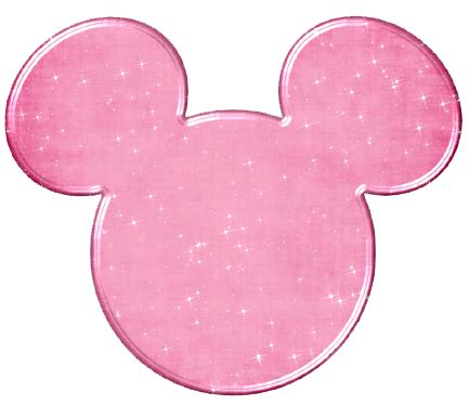 Miki Studed White Ear Pink mickey mouse icons clipart