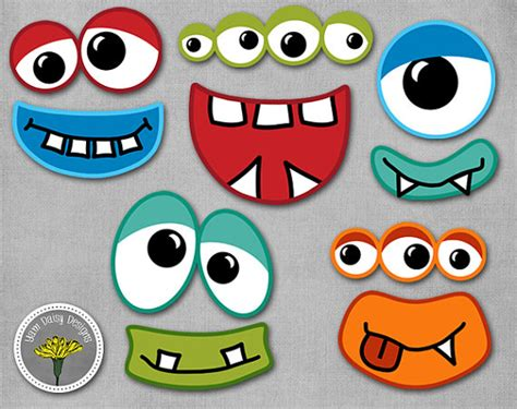 free printable monster photo booth props monster photo props printable instant download monster eyes