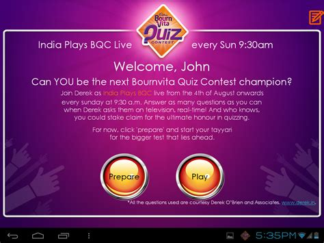 Giveaway Questions - bournvita quiz contest celebrates 40 years launches india plays bqc live for