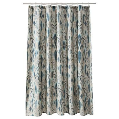 threshold ikat shower curtain threshold ikat mix shower curtain baby ideas pinterest