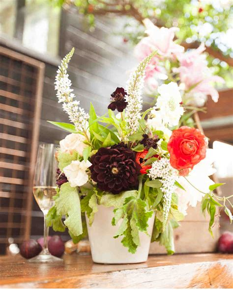 Bridal Floral Arrangements by A Restaurant Back Patio Bridal Shower Hosted By Cheetah Is