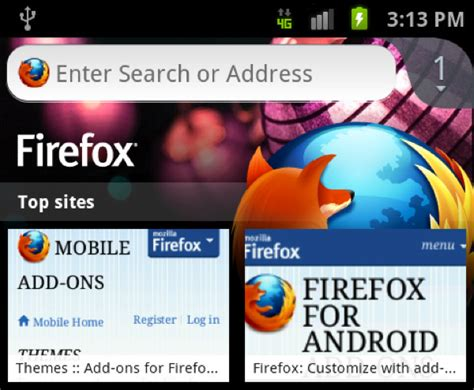 Mozilla Mobile Themes | mobile themes enhance your mobile browser with firefox