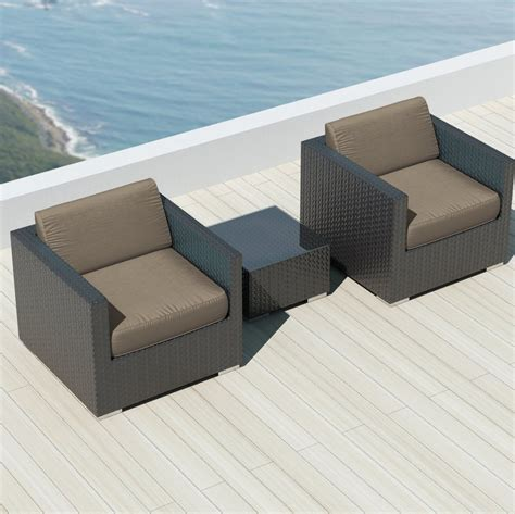sunbrella sofa luxxella bistro 3pc sunbrella outdoor sectional sofa set
