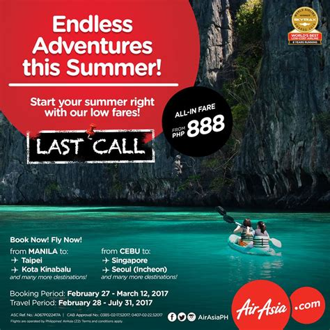 airasia last call travel promos to catch this week march 6 to 12 2017
