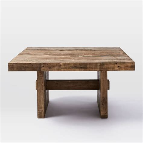 salvaged wood dining room tables emmerson reclaimed wood square dining table 60 quot sq