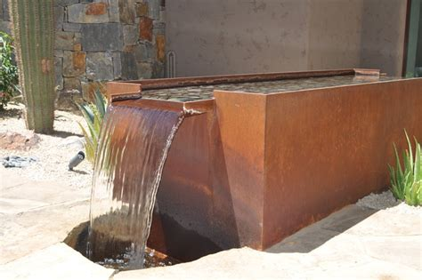 fountain contemporary landscape phoenix by grizzly