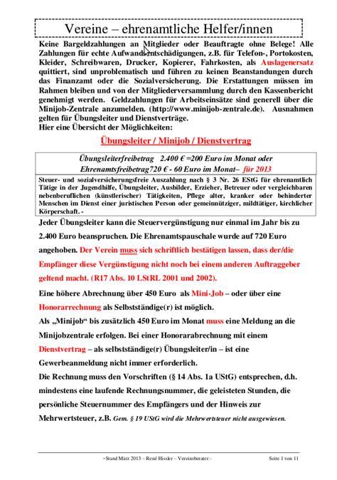 Vertragsvorlagen Muster Entlohnung Ehrenamtlicher Mitarbeiter Vertragsvorlagen