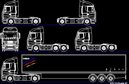 iveco trucks views dwg block  autocad designs cad