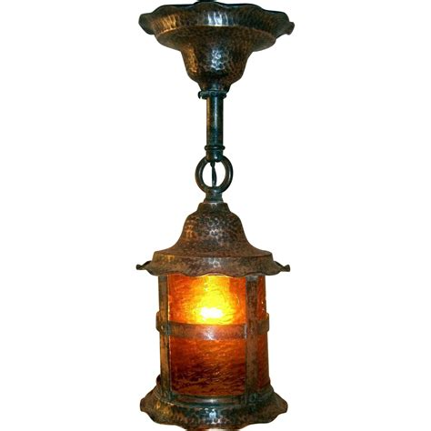 Copper Porch Light antique hammered copper lantern porch light from