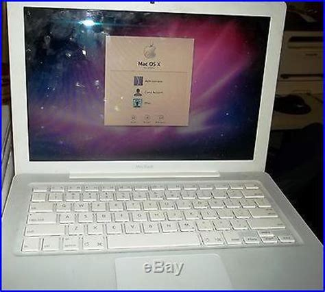 Laptop Apple Model A1181 apple macbook white 13 laptop 2 16ghz 1gb 120gb model
