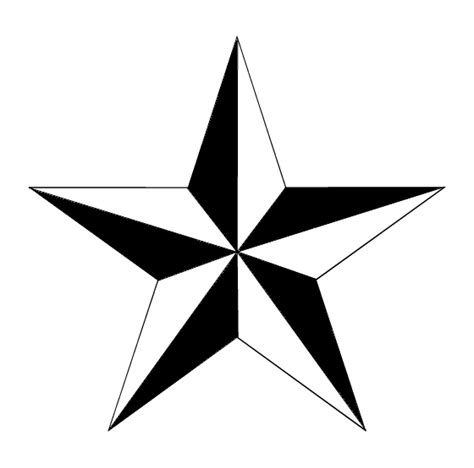 black star tattoo designs black and white nautical design