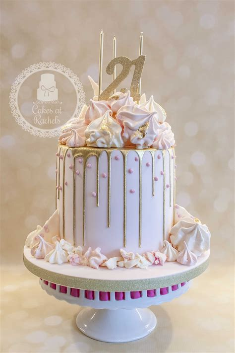 21st Birthday Cakes by Pastel Pink And Gold Drip Cake For S 21st