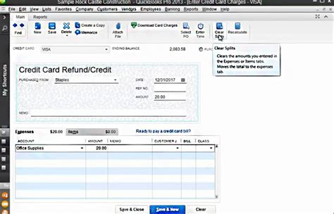 quickbooks tutorial entering credit card charges pay vendor bill with credit card quickbooks infocard co