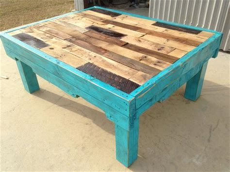 teal color pallet coffee table pallet furniture plans