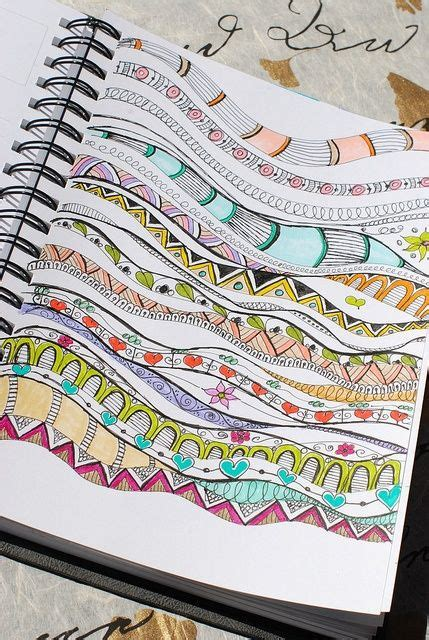 zentangle pattern journal papercraft zentangle doodling art journal