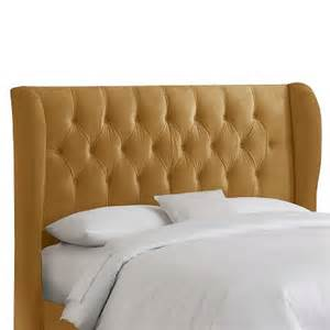 brompton tufted wing back headboard target