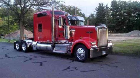 kenworth w900 studio 2007 sleeper semi trucks