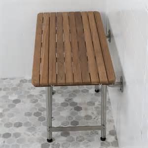 26 quot x 16 quot teak ada shower benches with drop legs