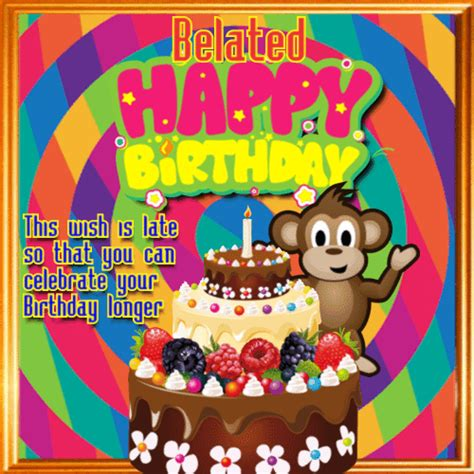 Belated Birthday Greeting Cards Free