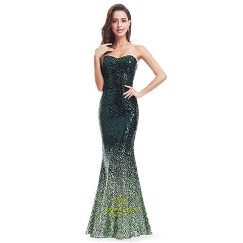Strapless Floor Length Dress by Green Strapless Sequin Embellished Mermaid Floor Length Prom Dress Val Dresses