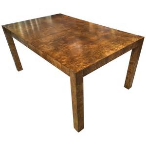milo baughman table stunning milo baughman burl dining table at 1stdibs