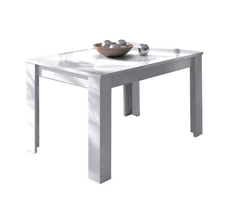 mesa de comedor rectangular extensible blanca
