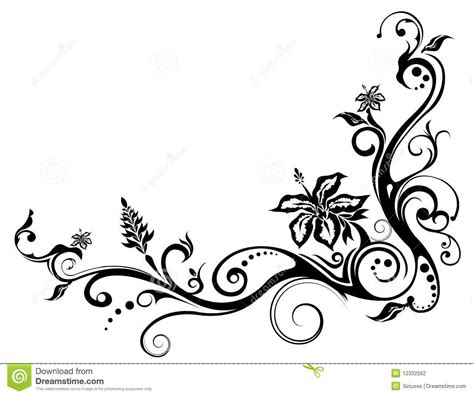 simple vine pattern viewing gallery for floral vine pattern tattoo