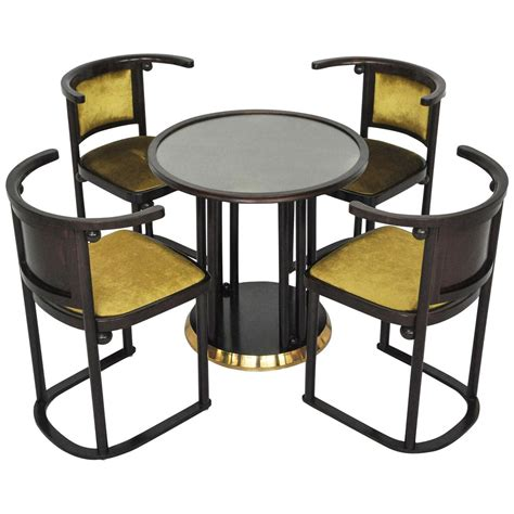 Josef Hoffmann Chair by Josef Hoffmann Quot Fledermaus Quot Table And Chairs At 1stdibs