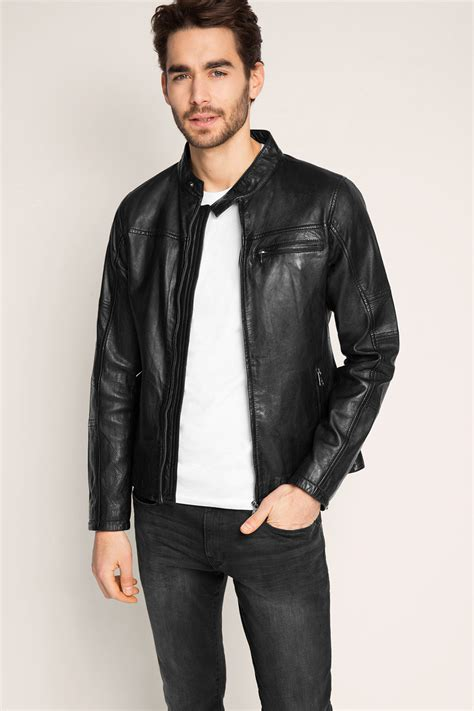Esprit Leather esprit soft leather biker jacket at our shop