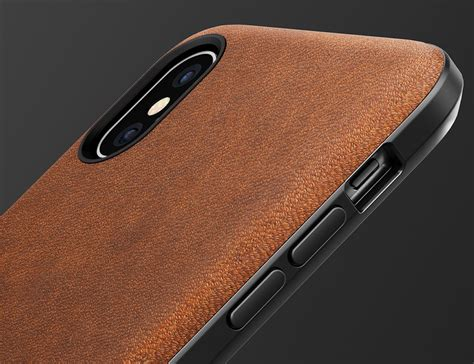 Iphone X Ten 10 Leather Back Cover Casing Bumper Armor Keren nomad rugged leather iphone x 187 gadget flow