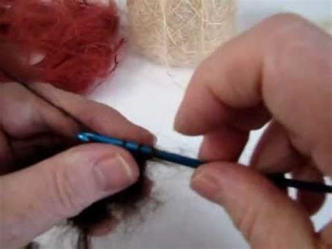 rag doll hair matted tips on how to crochet a mohair wig cap for your doll